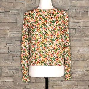 H&M multicolour floral blouse